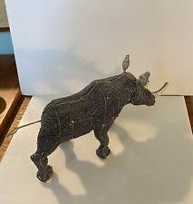 Rhinoceros Beaded  Wire Sculpture Zimbabwe African Art
