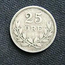 Zilveren munt Zweden/Sverige: 25 Ore 1910 in zeer fraai-