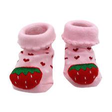 Baby Kinder Socken rosa ERDBEERE Mädchen Babysocken 16 17 18  3-6 Monate