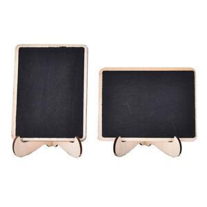Mini Wooden Message Chalkboard&Stand Small Message Wedding Home E6Y4 Board J1P2