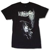 Bob Marley Smoke Spliff Ganja Black T Shirt New Official Soft Zion Rootswear