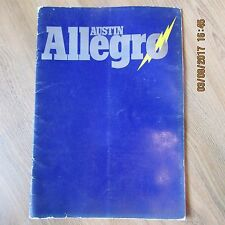 AUSTIN ALLEGRO 1100 1300 1500 Super Deluxe 1750 Sport Special UK Brochure 1973