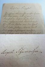 AUGUST SCHUMACHER (1790-1864): Eh. Gedicht HEIDELBERG 1818 / Kränzchen / UNIKAT!