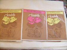 """Lot de 3 paires de Bas vintage """"Donatella"""" beige moyen T 1 neufs emballés"""