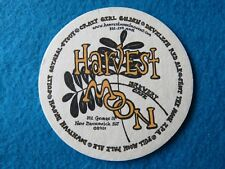 Beer Coaster: HARVEST MOON Brewery & Cafe ~ New Brunswick, NEW JERSEY Since 1996