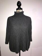 Gray Wythe NY Turtleneck Cashmere Sweater Size Medium 3/4 Sleeve