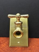 VINTAGE STEAMPUNK HOSE BIBB VALVE LIGHT SWITCH,  NOW YOU CAN STEAMPUNK YOUR WALL