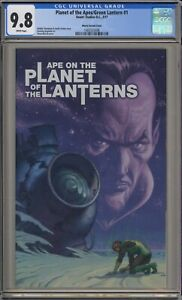 PLANET OF THE APES/GREEN LANTERN #1 - CGC 9.8 - MOVIE POSTER VARIANT -1465535006