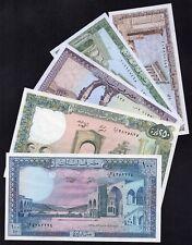 LIBAN 5 billets NEUFS 1964_1988 / Lot 14