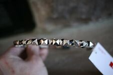 ELLE 47129 METAL HEADBAND COVERED WITH LEOPARD SILK CLOTH W/ SILVER ACCENT