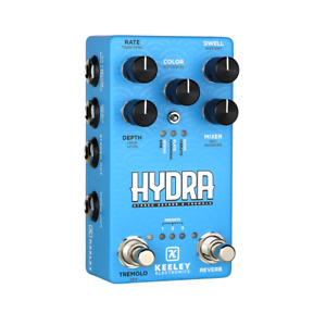 Used Keeley Hydra Stereo Reverb & Tremolo Guitar Effects Pedal