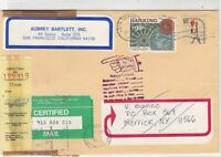 United States 1988 Return to Sender Hand Slogan Certified Stamps Cover Ref 23458
