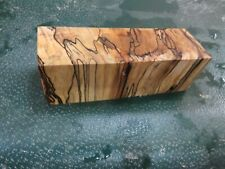 MM-SPALTED  MAPLE  DELUXE  KNIFE BLOCK/SCALES/ CALLS/ PEN BLANKS--M--42
