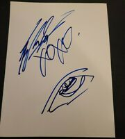 KAT VON D SIGNED 8X10 PHOTO EYE MAKEUP SKETCH XOXO W/COA+PROOF RARE WOW