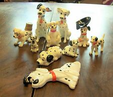 101 DALMATIONS DOGS PORCELAIN FIGURINES and figures LOT of 9 WALT DISNEY CHINA