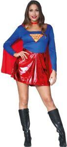 Femmes Supergirl Robe Débardeur Homme De Acier Superman Costume Déguisement