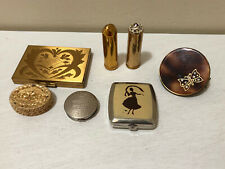 Vintage Lot Of Compacts & Lipstick Holders