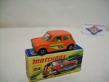 Matchbox Superfast 29, Mini Racing #29, 1972, Orange