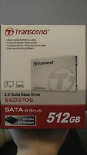 "Transcend 512 GB SSD370S 2.5"" inch Solid State Drive SATA 6Gb/s unopened unused"