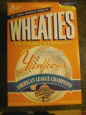 MLB YOGI BERRA, NEW YORK YANKEES AMERICAN LEAGUE CHAMPS 1996 WHEATIES CEREAL BOX