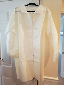 (M) 10 Medical Dental Disposable Lab Coat Gown WHITE 10/bag MEDIUM Size