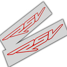 Aprilia RSV outline red decals custom graphics stickers  x 2 pieces
