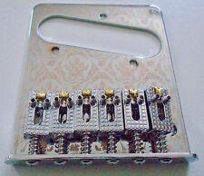 NEW Bridge TELECASTER CHROME - FUN - saddles roller - single coil- guitare tele