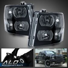For 2007-2013 Chevy Silverado 1500/2500/3500 Smoke Lens Black Housing Headlights
