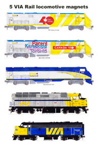 VIA Rail Locomotives 5 magnets by Andy Fletcher