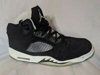 2013 Nike Air Jordan 5 V Retro Size 12 OREO Black Suede White 136027-035