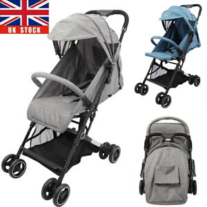 Baby Toddler Pushchair Pram Buggy with Rain Cover Foldable Travel Stroller Seat