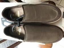 George Men's Brown Mesh Memory Foam Slip-on Casual Shoes: size 9