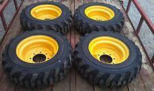 4 NEW 10-16.5 Skid Steer Tires/Wheels/Rims for Caterpillar 216-226 - CAT 10X16.5