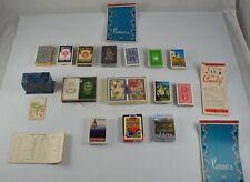 Vintage Lot Of 20 Advertising Playing Card Canasta Score Bicycle Tobacco CSU TWA