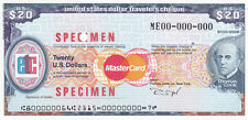 SPECIMEN USA 20 USD THOMAS COOK TRAVELERS CHECK TRAVELLERS CHEQUE GEM UNC TDLR