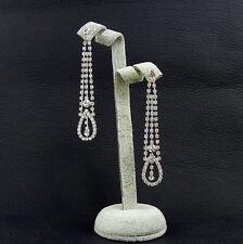 Earring w/ Swarovski Crystal Se36020 Lace Pattern Cocktail Prom Bridal Long