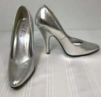 Ellie Silver Women Size 8 High Heels Stilettos Pumps Gray Shoes Free Shipping