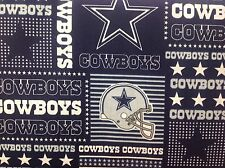"DALLAS COWBOYS NFL 60"" WIDE COTTON FABRIC BY THE HALF YARD Fabric Traditions pw"