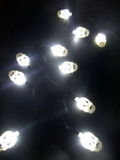 Skulls 10 LED Fairy String Lights Battery Power Operated 2-AA DIY Crafting