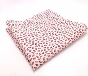 $95 Bar Iii Men'S Red White Floral Tree Print Handkerchief Dress Pocket Square
