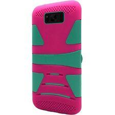 Samsung Galaxy S8 / S8 Hard Gel Rubber KICKSTAND Case Phone Cover + Screen Guard
