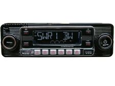 USB SD CD MP3 Retro Design Look Oldtimer Autoradio Youngtimer schwarz