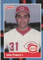 FREE SHIPPING-MINT-1988 Donruss John Franco #123 REDS PLUS BONUS CARDS