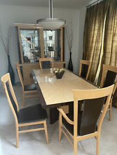 dining table set 6 chairs With China Cabinet