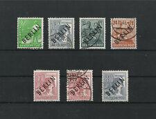 Berlin 1948: 7 versch. Ausgaben / Werte Schwarzaufdruck gestempelt