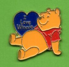 Pin's lapel pin Pins BD DISNEY Winnie l'ourson The  pooh I Love Winnie c��ur bleu