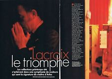 COUPURE DE PRESSE CLIPPING 1995 CHRISTIAN LACROIX (6 pages)