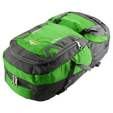 60l Waterproof Outdoor Climbing Travel Large Backpack Camping Rucksack Bag Green
