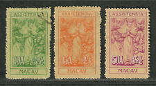 Macau Sc#RA7, 8, 10 M+U/H/VF, Partial Set, Cv. $80