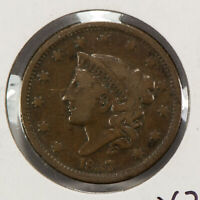 1837 1c Coronet Head Large Cent SKU-Y2541